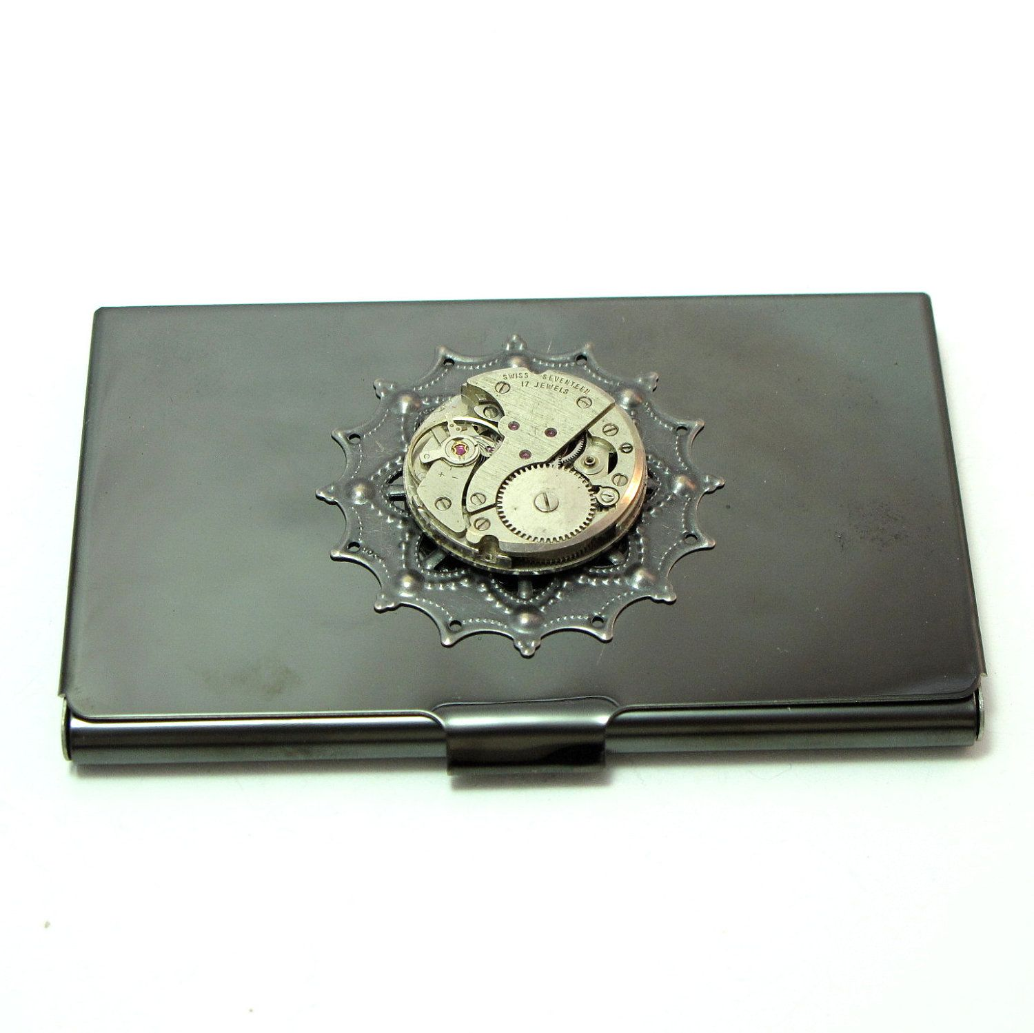 Steampunk+Gunmetal+Business+Card+Case+Gothic+by+mysticpieces,+$62.00 ...