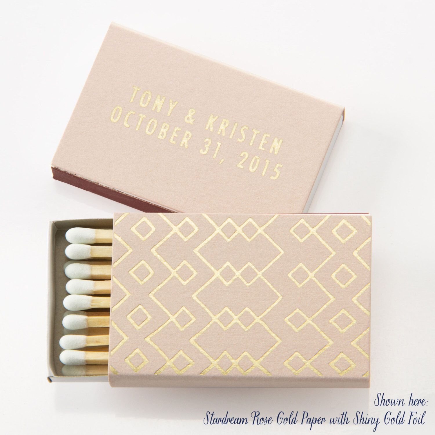 TRIBAL / GEOMETRIC Matchboxes - Wedding Favors, Wedding Matches ...