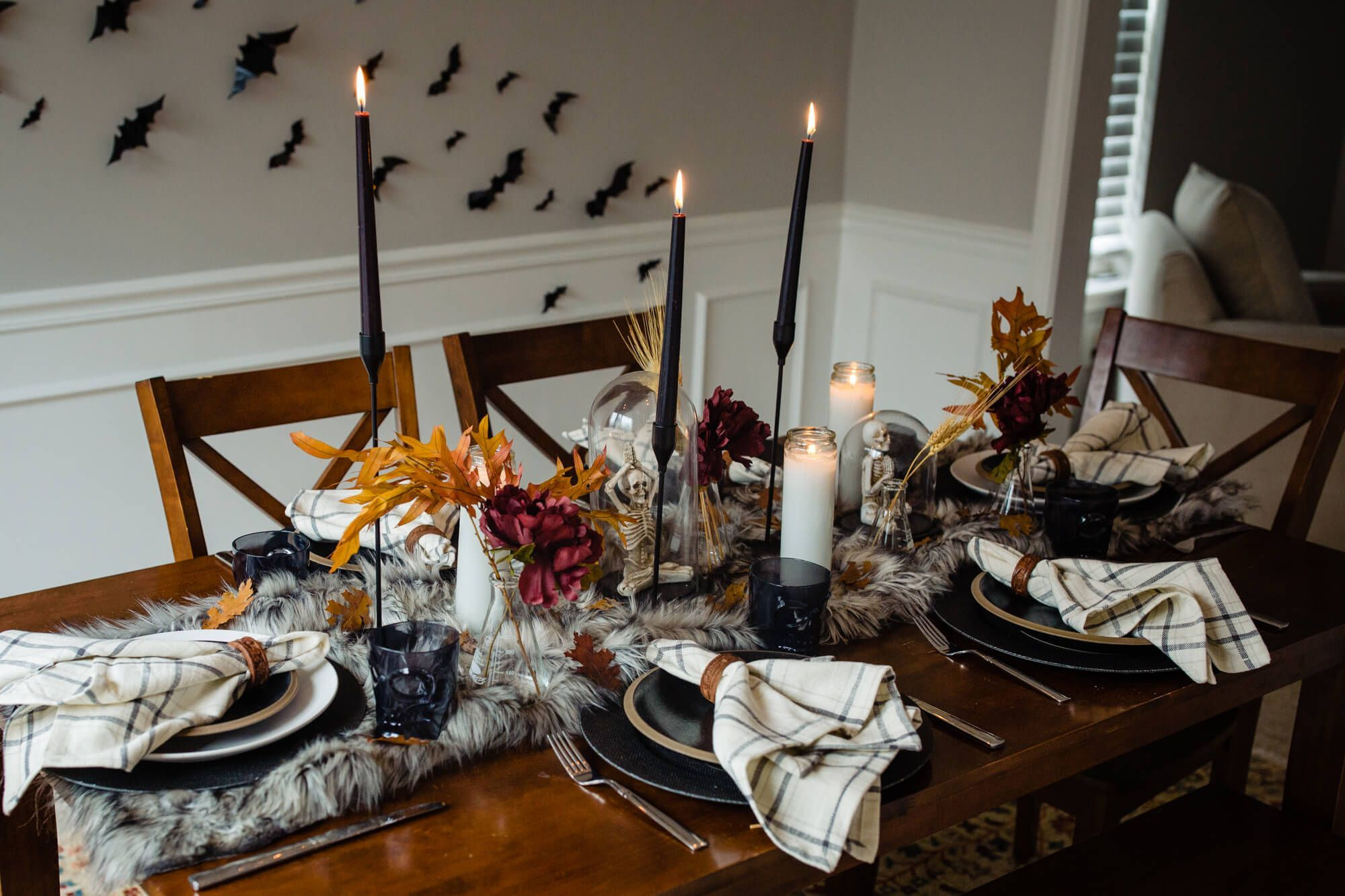 Easy Halloween Dining Room Decorations Cause We Can Events Halloween Dining Room Halloween Table Decorations Decor