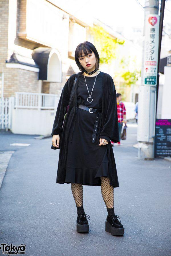 516d73c2339a Dark Harajuku Street Style w  Vintage Fashion Merry Jenny   Zara ...