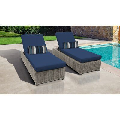 Rosecliff Heights Claire Sun Lounger Set with Cushion