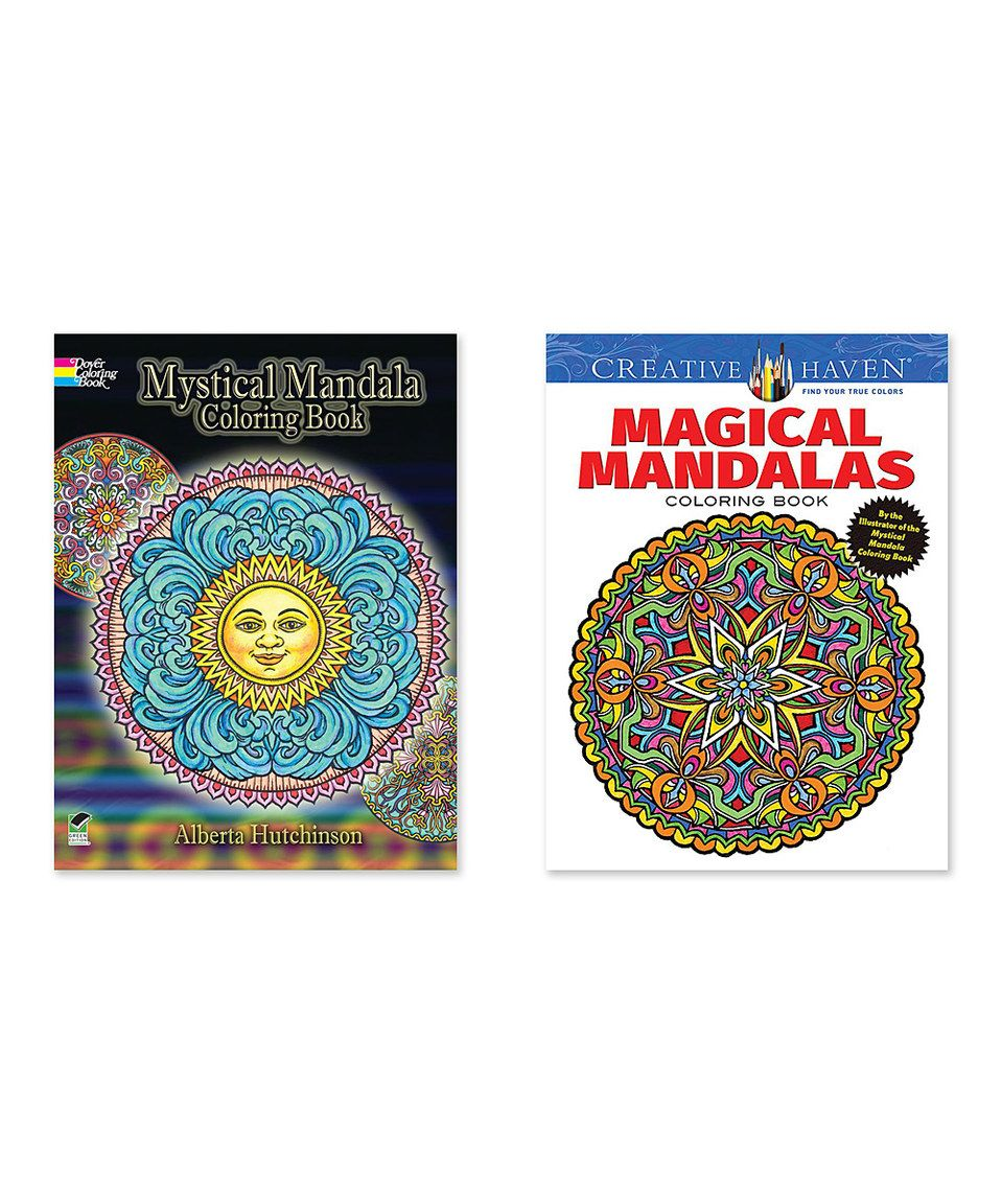 Mystical Mandala Magical Mandalas Coloring Book Set Coloring Book Set Coloring Books Mandala Coloring Books