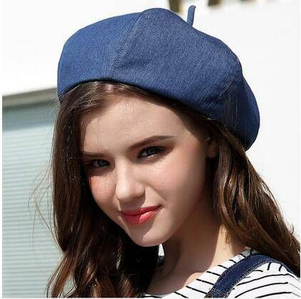 British style beret hat for teenage girls cotton berets spring wear ... 69336ecfdde