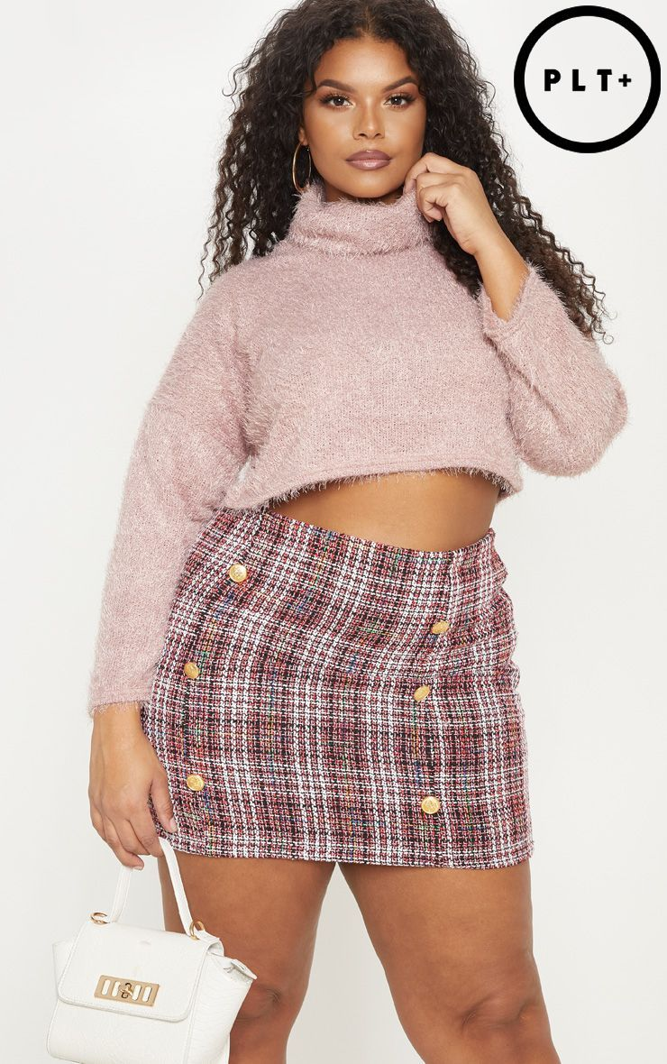 best deals on best prices coupon codes Plus Red Tweed Button Mini Skirt in 2019 | Mini skirts, Plus ...