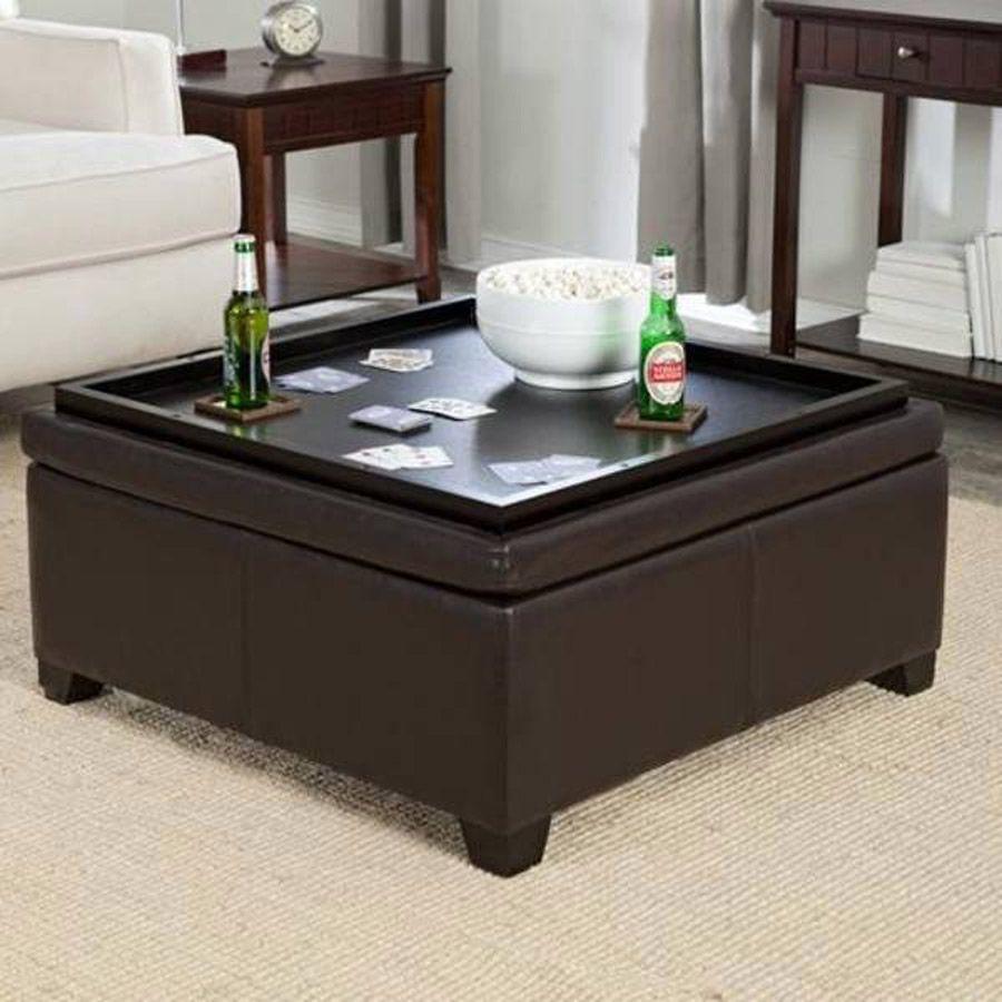 coaster storage ottoman coffee table tray | coffee tables | family
