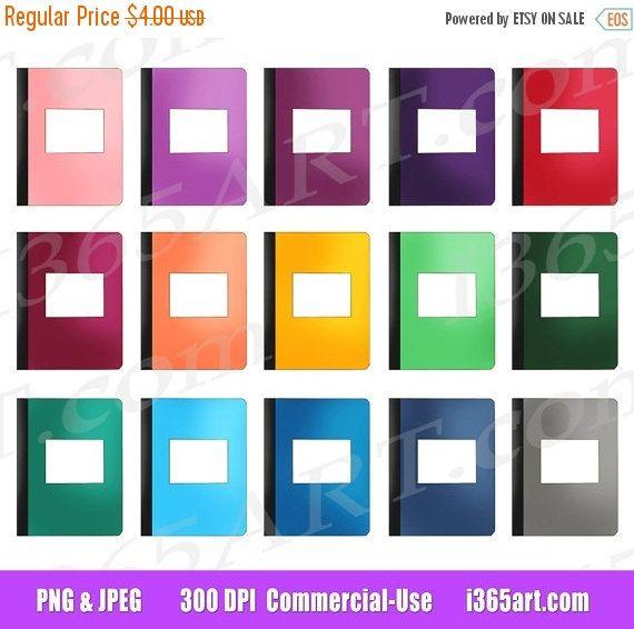 50 off sale journals clipart notepads clip art notebooks homework office planner bookfree - Office Planner Free