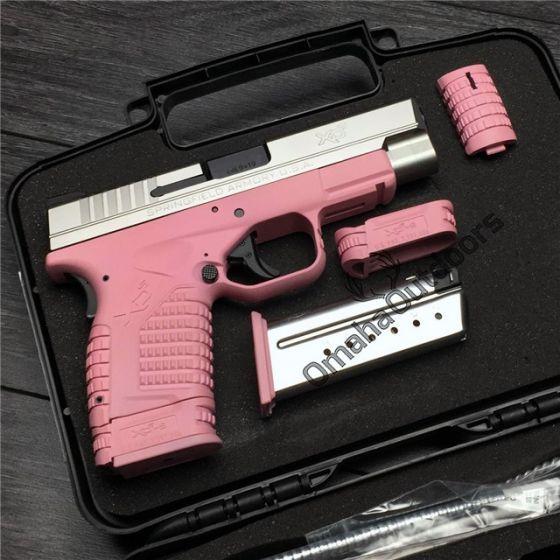 Springfield XD-S Victoria Pink Handgun Stainless Slide 9mm 7