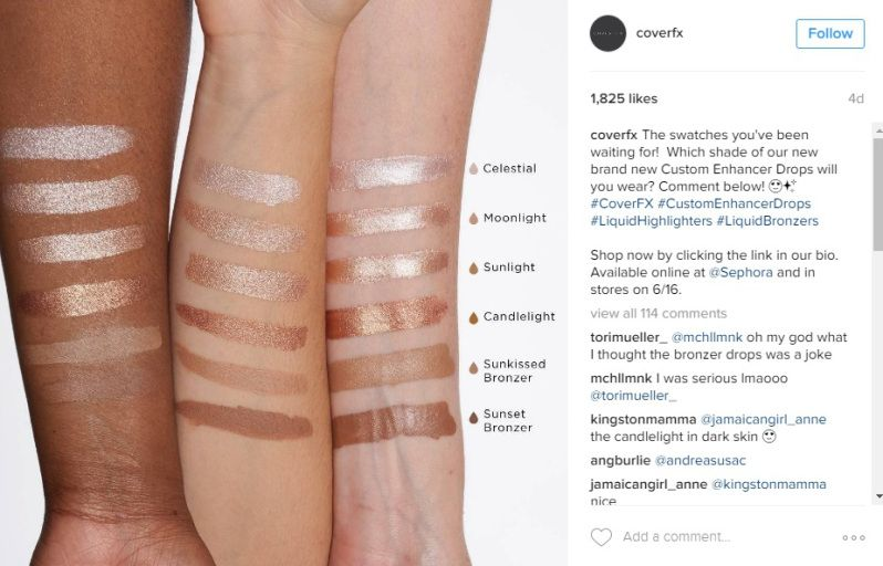 Coverfx Custom Enhancer Drops Sunlight And Candlelight Highlighters Overview Swatches Jeffree Star Highlighter Highlighter Swatches Candlelight Highlighter