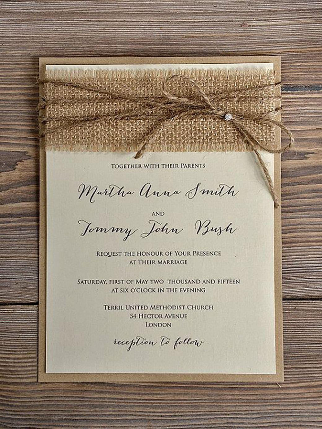 rustic wedding invitation 10 More rustic wedding