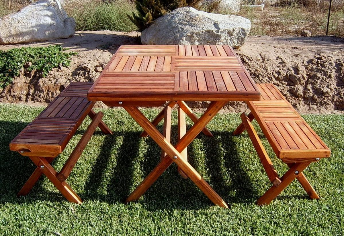 Foldable Picnic Table Plans Not Available A Base With Portable Top Would