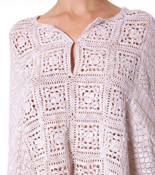 Outstanding Crochet: #crochet poncho from Odd Molly.