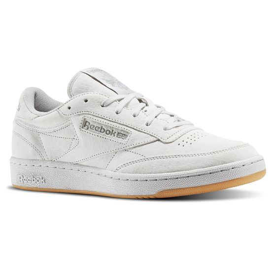 Reebok Club C 85 Tg Steel Carbon Gum Bd1886 Sneakers Reebok Classic Adidas Shoes Mens