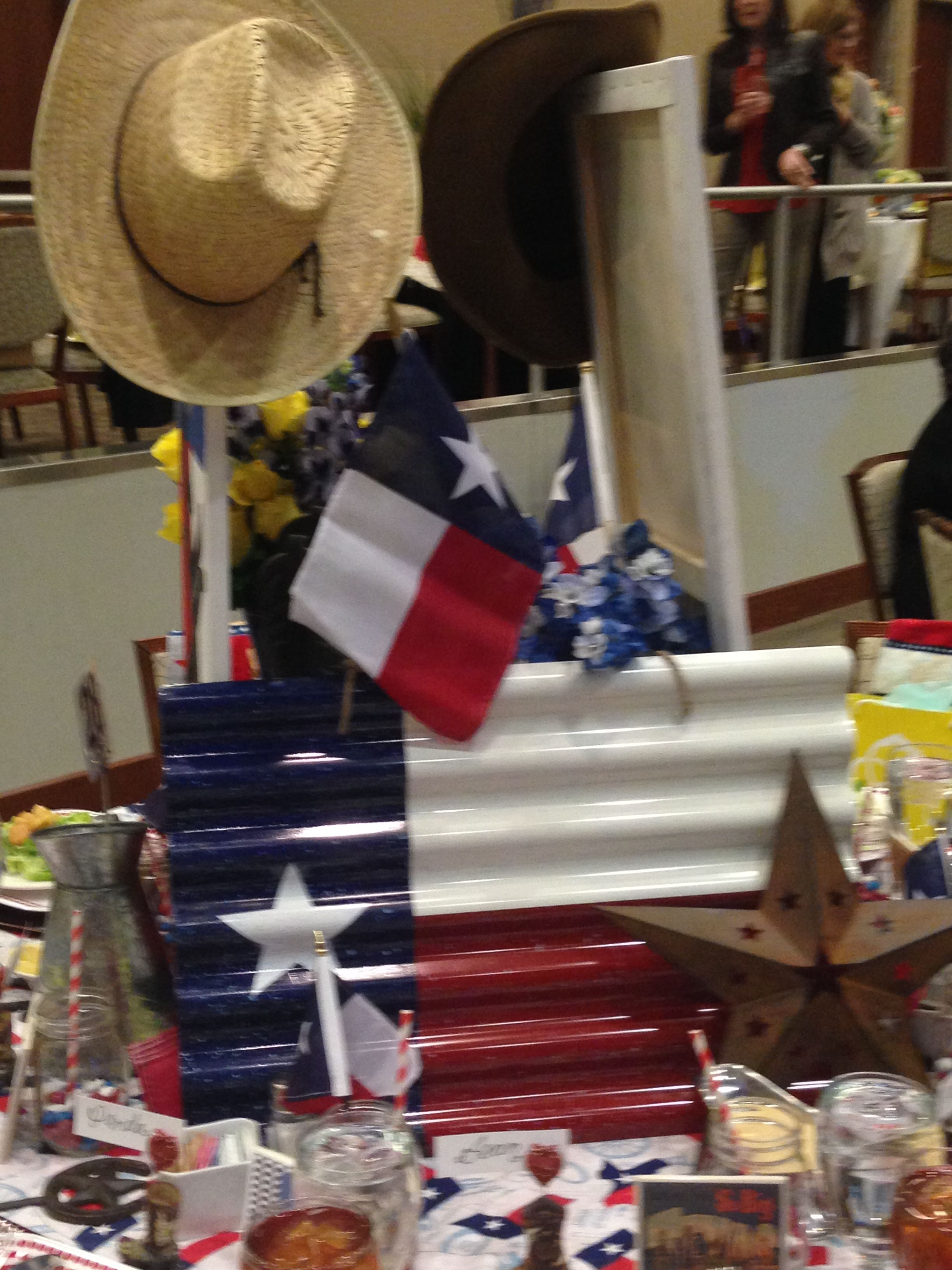 First Baptist Academy, Dallas - Tablescapes and Trends 2016: Texas theme table
