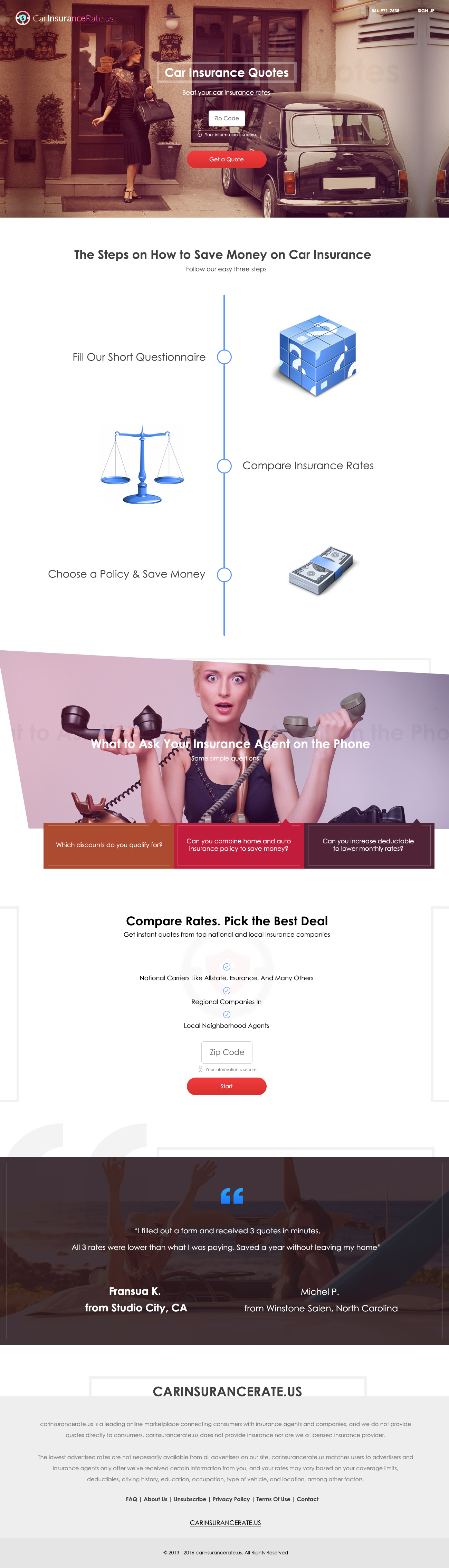 "Website Concept ""Car Insurance Quotes"" | Auto insurance ..."