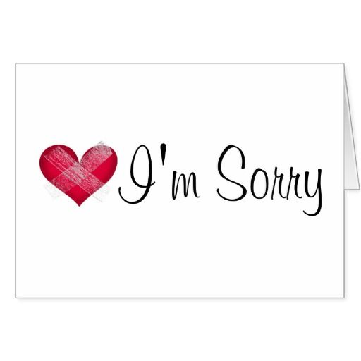 Cute Apology Greeting Card I Take Back What I Said The Other Day