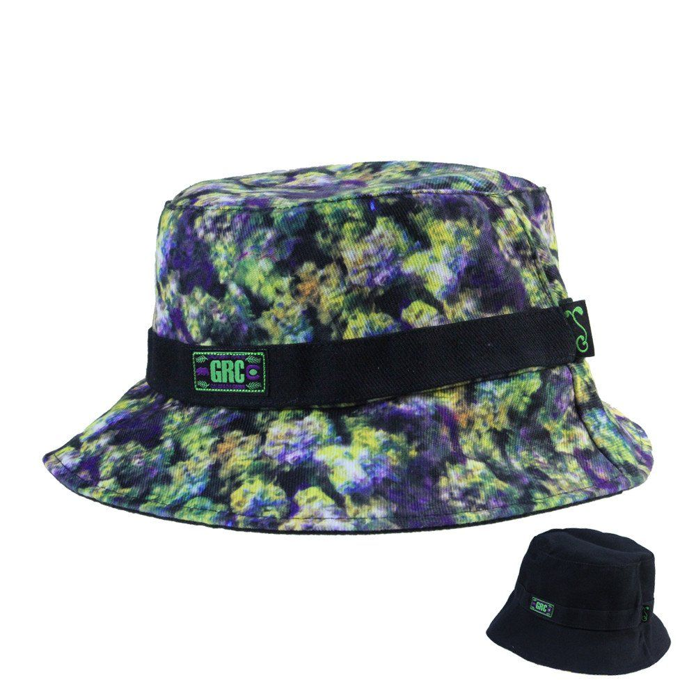 ... the cheapest bc227 8dd02 Oil Paint Weed Reversible Bucket Black Bucket  Bucket-Hat ... 99c58844657b