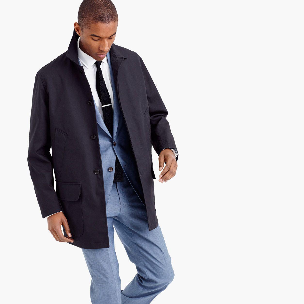 Water-repellent bonded mac jacket : lightweight jackets | J.Crew ...