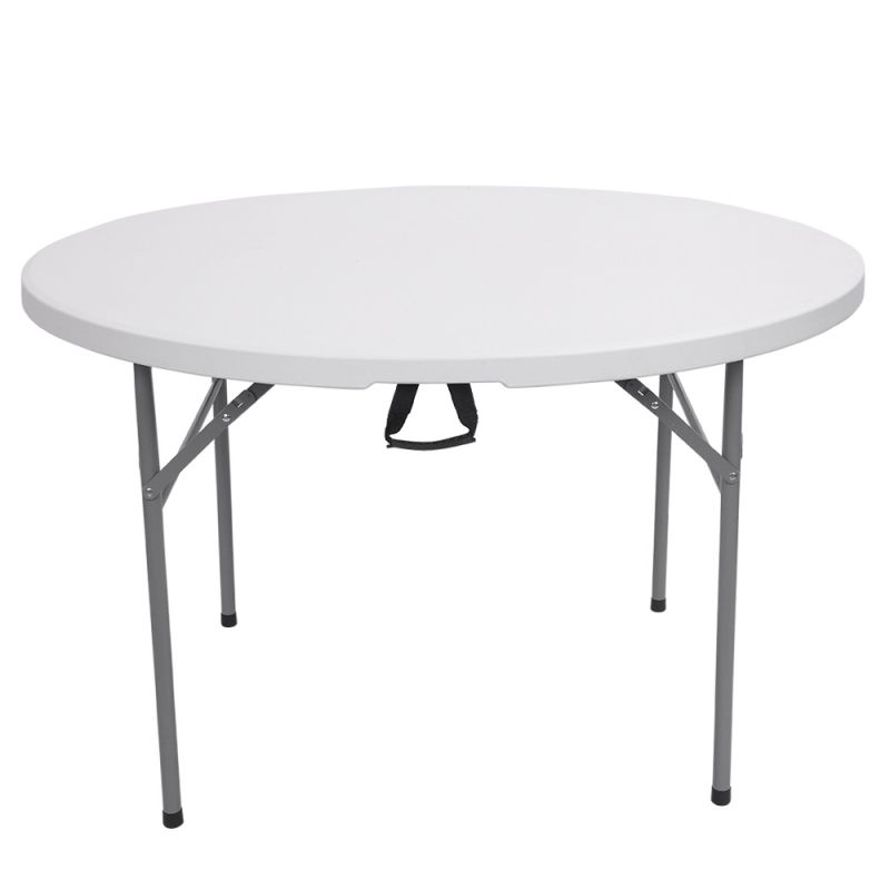 Tmart 48inch Round Folding Table Outdoor Folding Utility Table White Round Folding Table Table White Dining Table