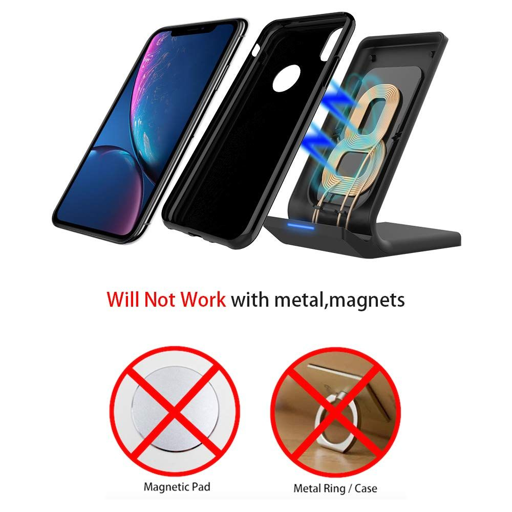 Wireless Charger, LK Qi Fast Wireless Charging Pad Stand for iPhone