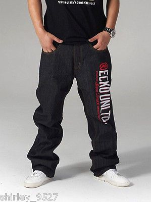 d4754d067b Nwt Mens HipHop Jeans Ecko Unltd Baggy Loose Denim Raw Hip-Hop Streetwear  W30-42 in Clothing, Shoes & Accessories | eBay
