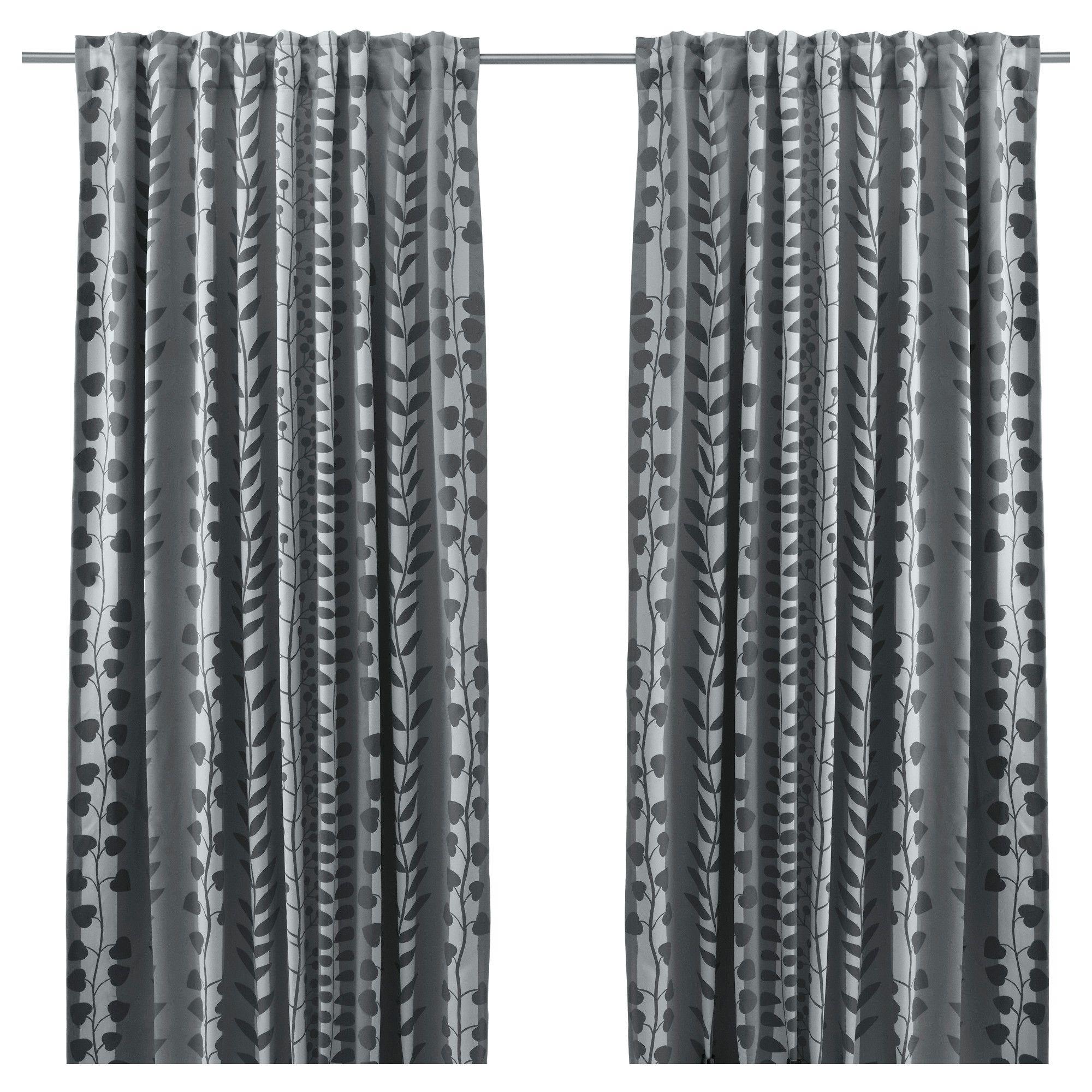 IKEA GUNNI Block out curtains 1 pair The curtains prevent