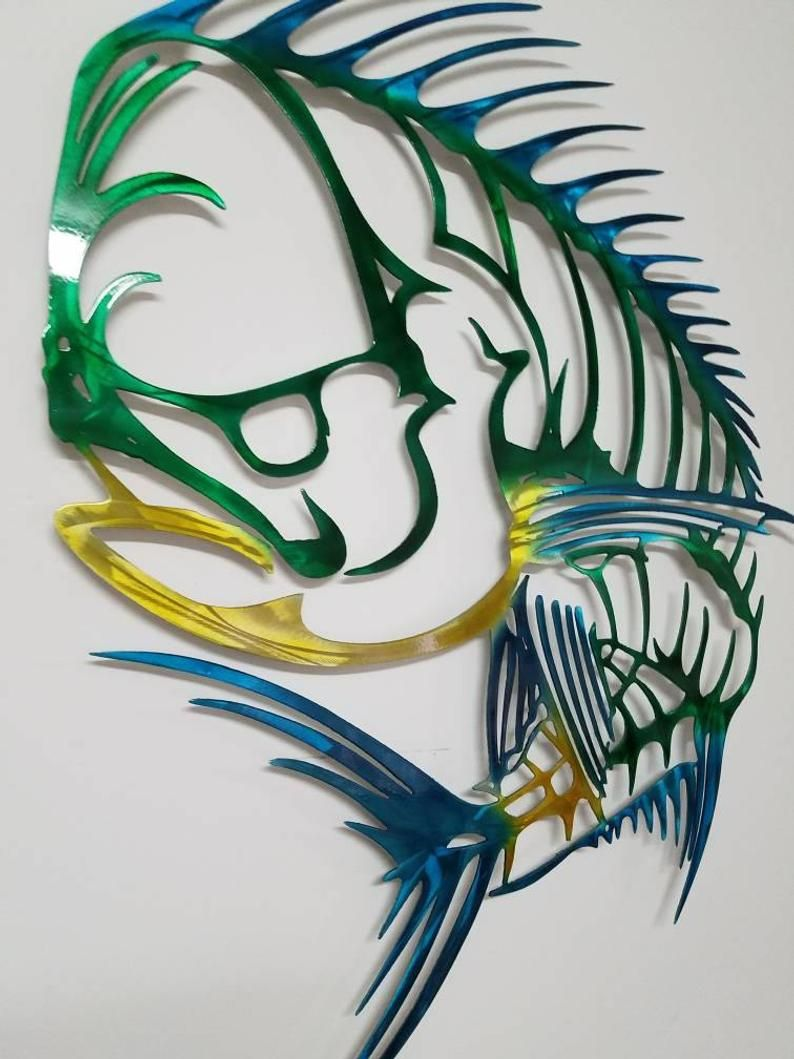 Mahi Mahi Wall Art Metal Mahi Wall Art Aluminum Wall Art Etsy Metal Fish Wall Art Etsy Wall Art Aluminum Wall Art