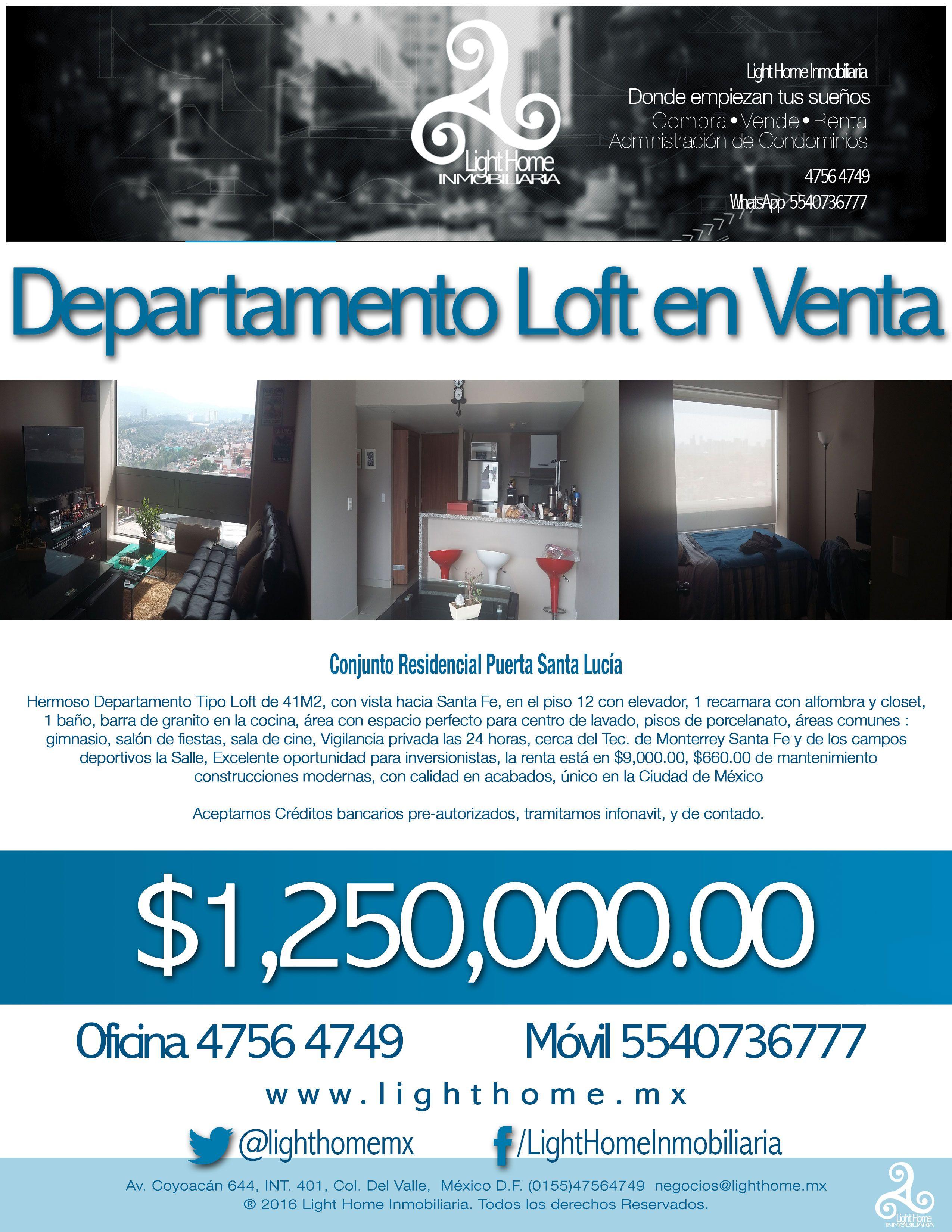 Excelente oportunidad para Inversionistas $$$ Departamento tipo Loft ...