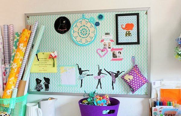 crafty inspiration children room ideas. framed fabric pinboard from Creative and Inspiring Children s Room Tour