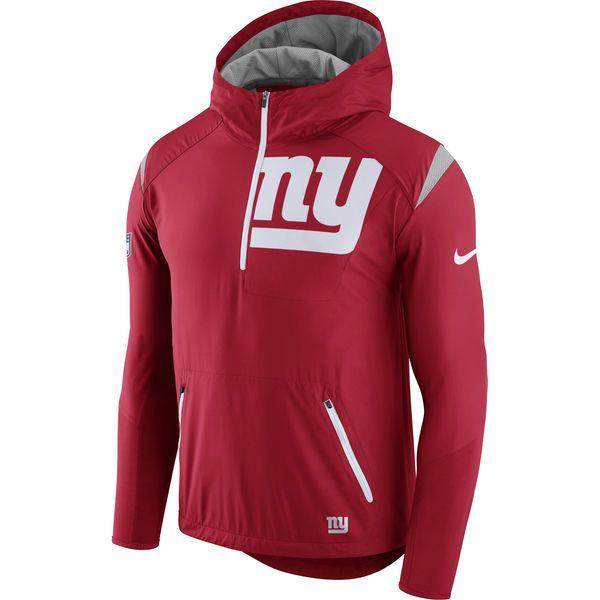 9e4dd9458a4f New York Giants Nike Sideline Fly Rush Half-Zip Pullover Jacket - Red -  Fanatics.com