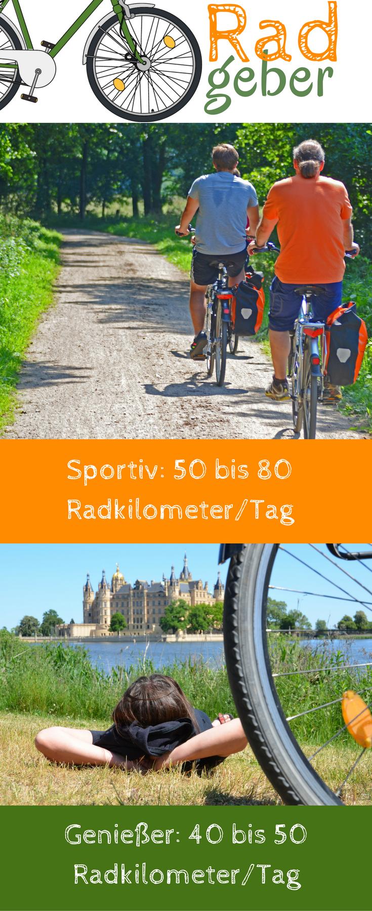 Radreisen individuell für jedes Level: Sind Sie Genießer oder soll es mit höherer Kilometerzahl sein...