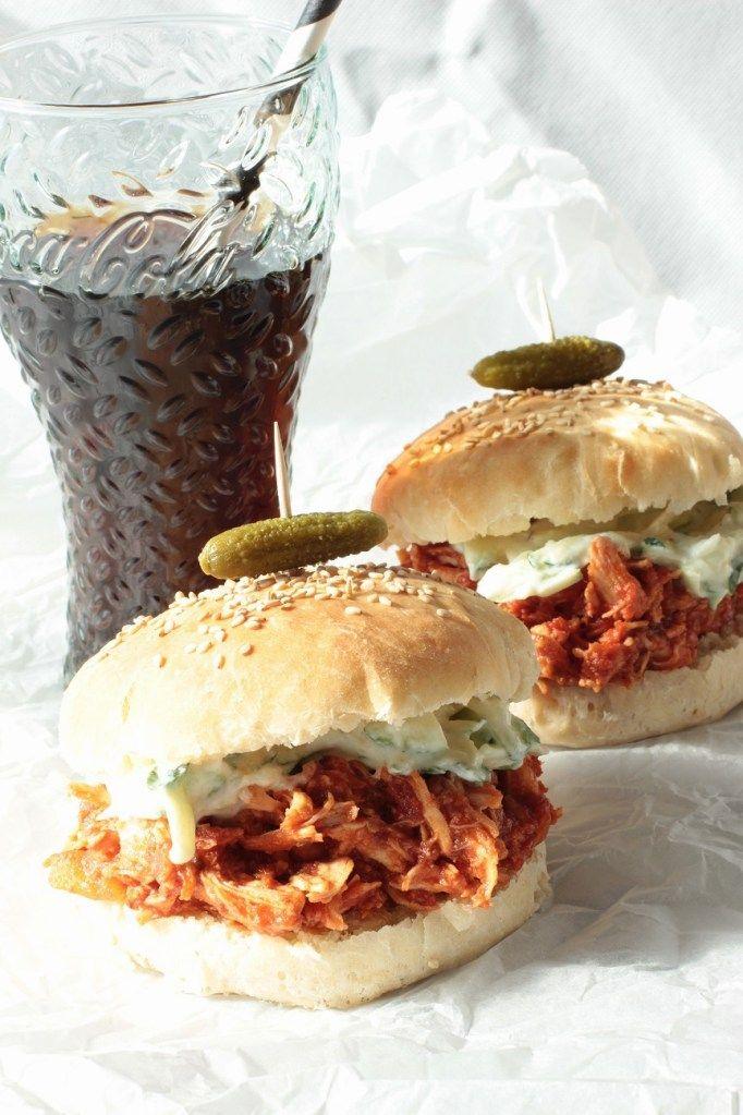 Pulled Chicken Burger :http://www.sweetfoodomine.com/pulledchickenburger/