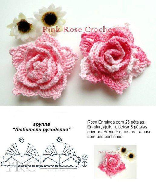 Maite S-Rivero | Flores | Pinterest | Ganchillo, Croché y Flores