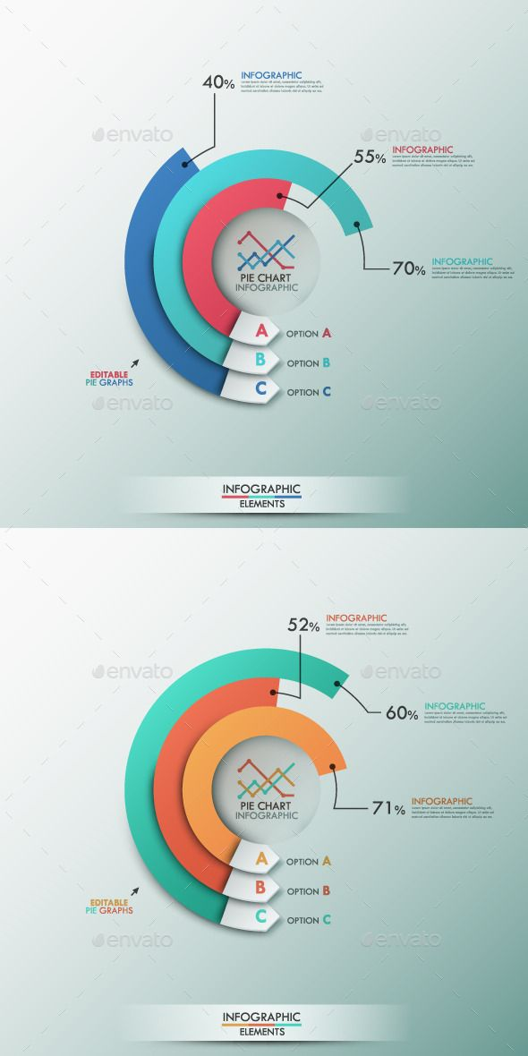 Smart Infographics Template With Pie Chart Chart design, Pie - graphs and charts templates