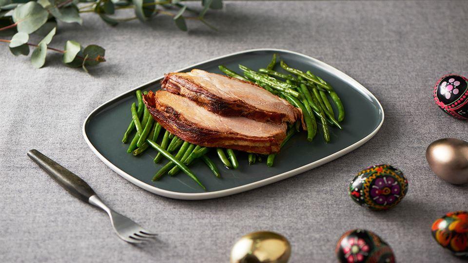 Pikantny Schab Pieczony W Boczku Przepis Recipe Food Meat Steak