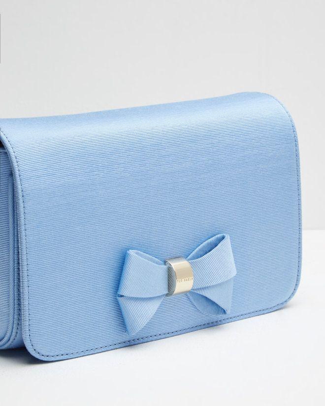 Bow detail clutch bag - Powder Blue | Bags | Ted Baker UK ...