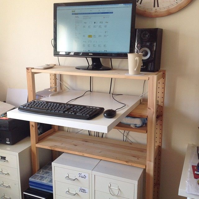 Standing Desk Ikea Hack Linnmon Desk Ivar Shelf Ikea Standing Desk Ikea Desk Linnmon Desk