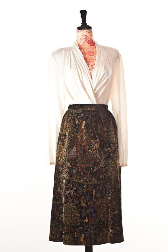 Horses and Lady Skirt by GorgJunkie on Etsy, $25.00
