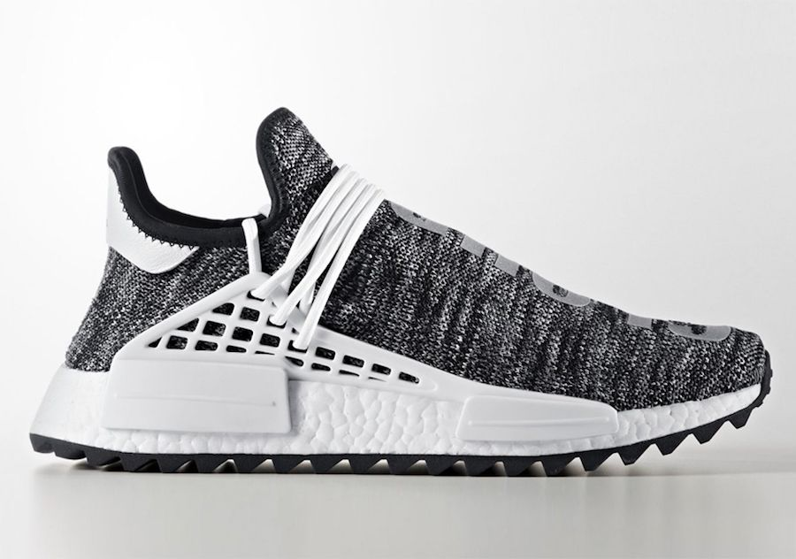 finest selection ff3c6 bb53f Pharrell x adidas NMD Hu Trail Black White