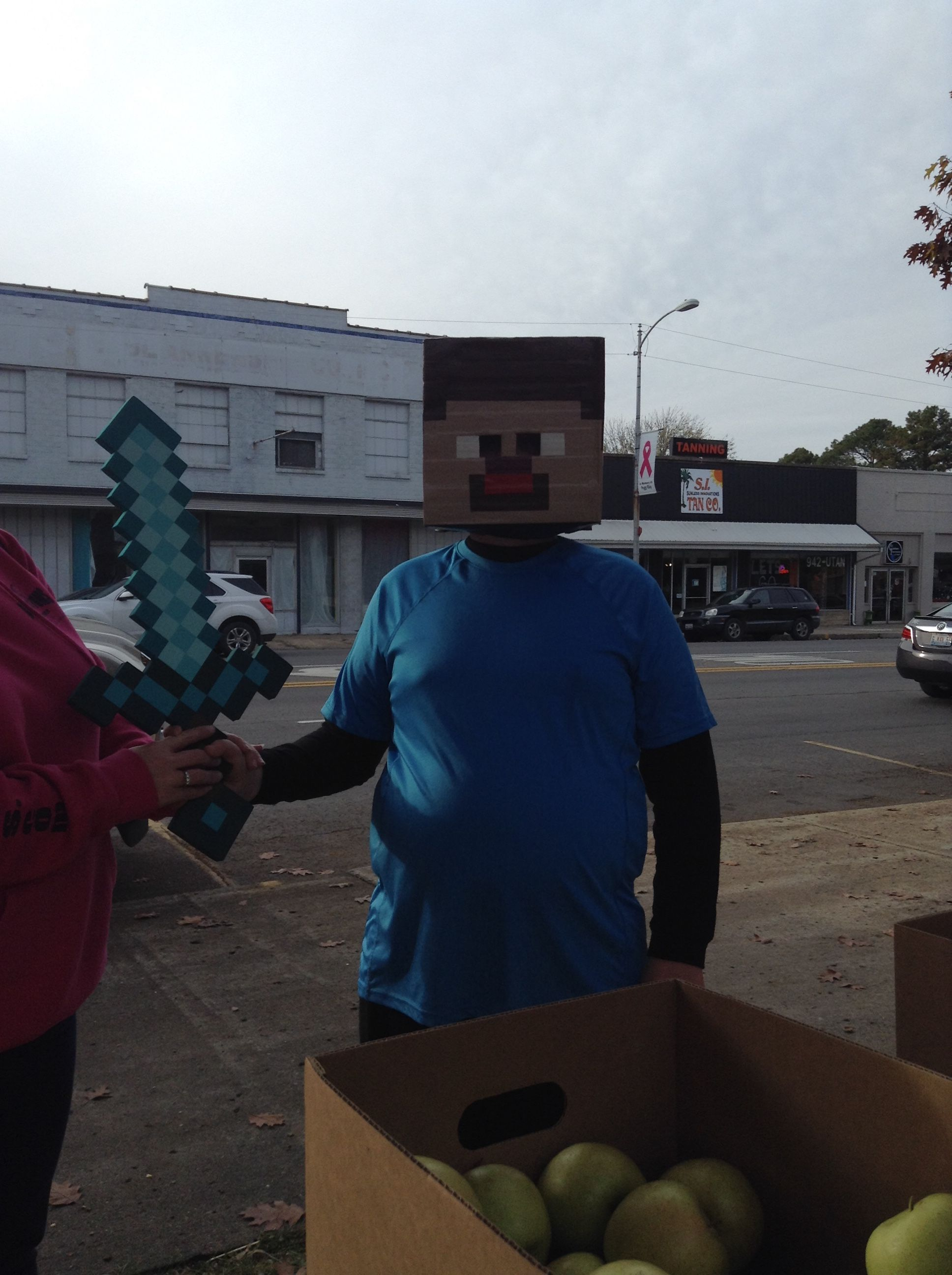 We had a visit from Minecraft's Steve! We didn't want to