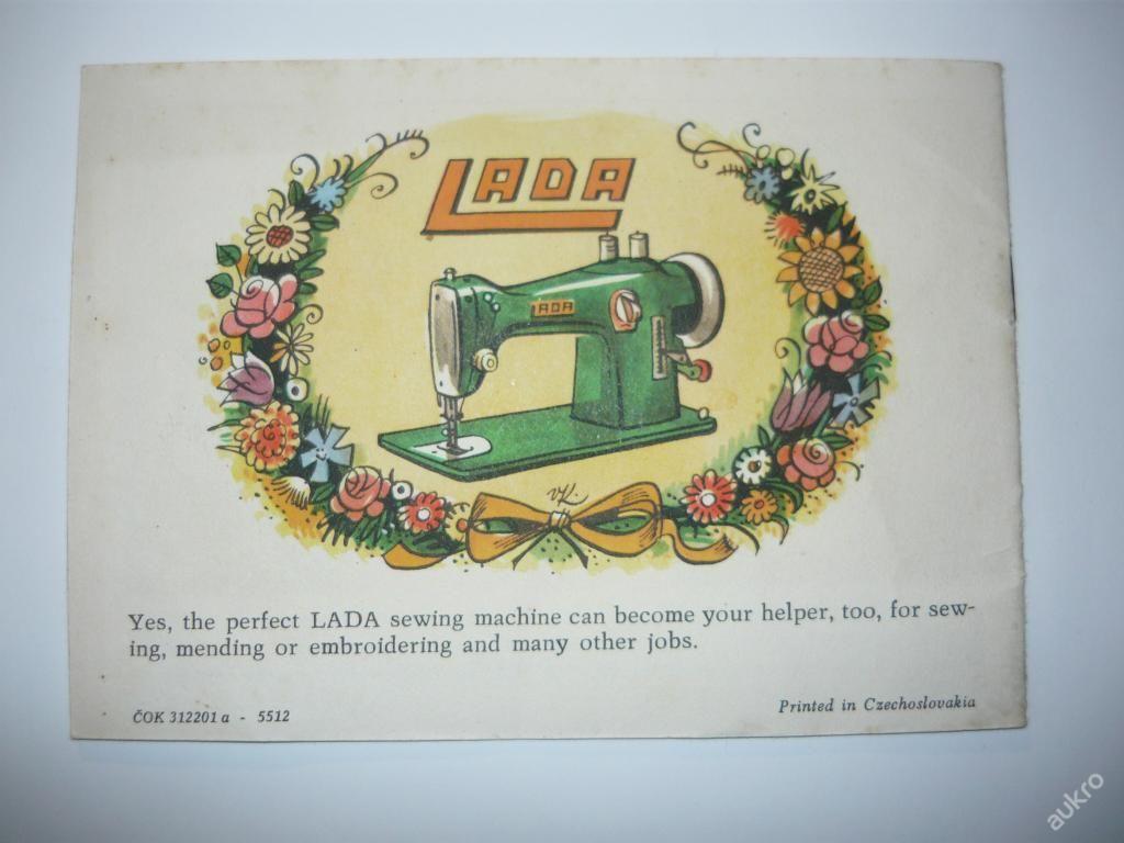 Reklamní brožura - šicí stroj - LADA