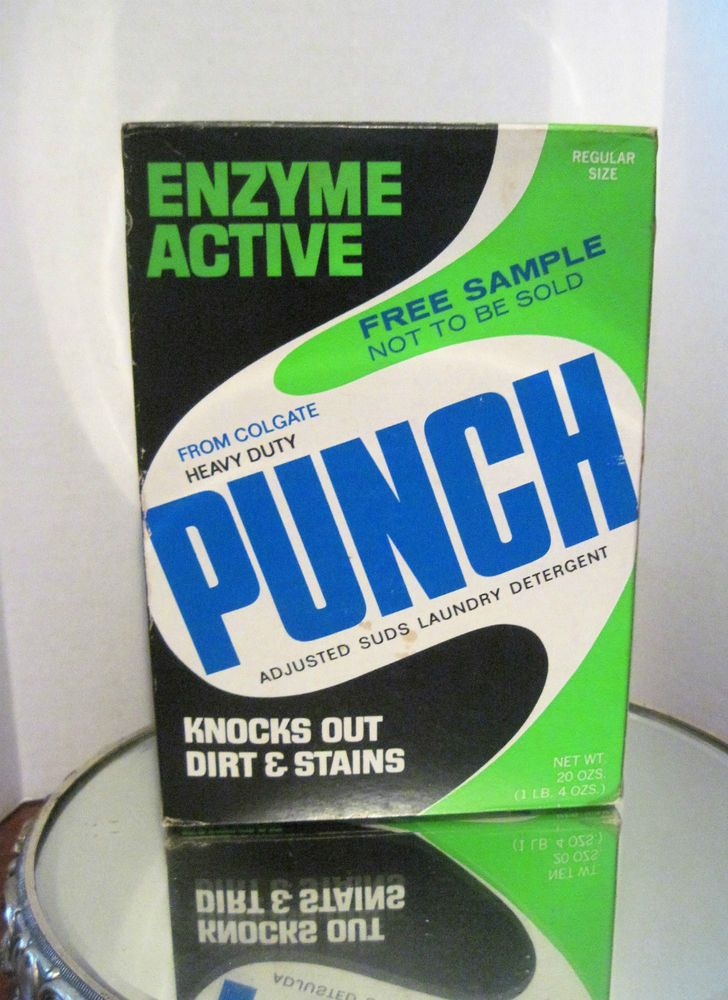 Heavy Duty Punch Laundry Detergent Sample Box Regular Size 20oz