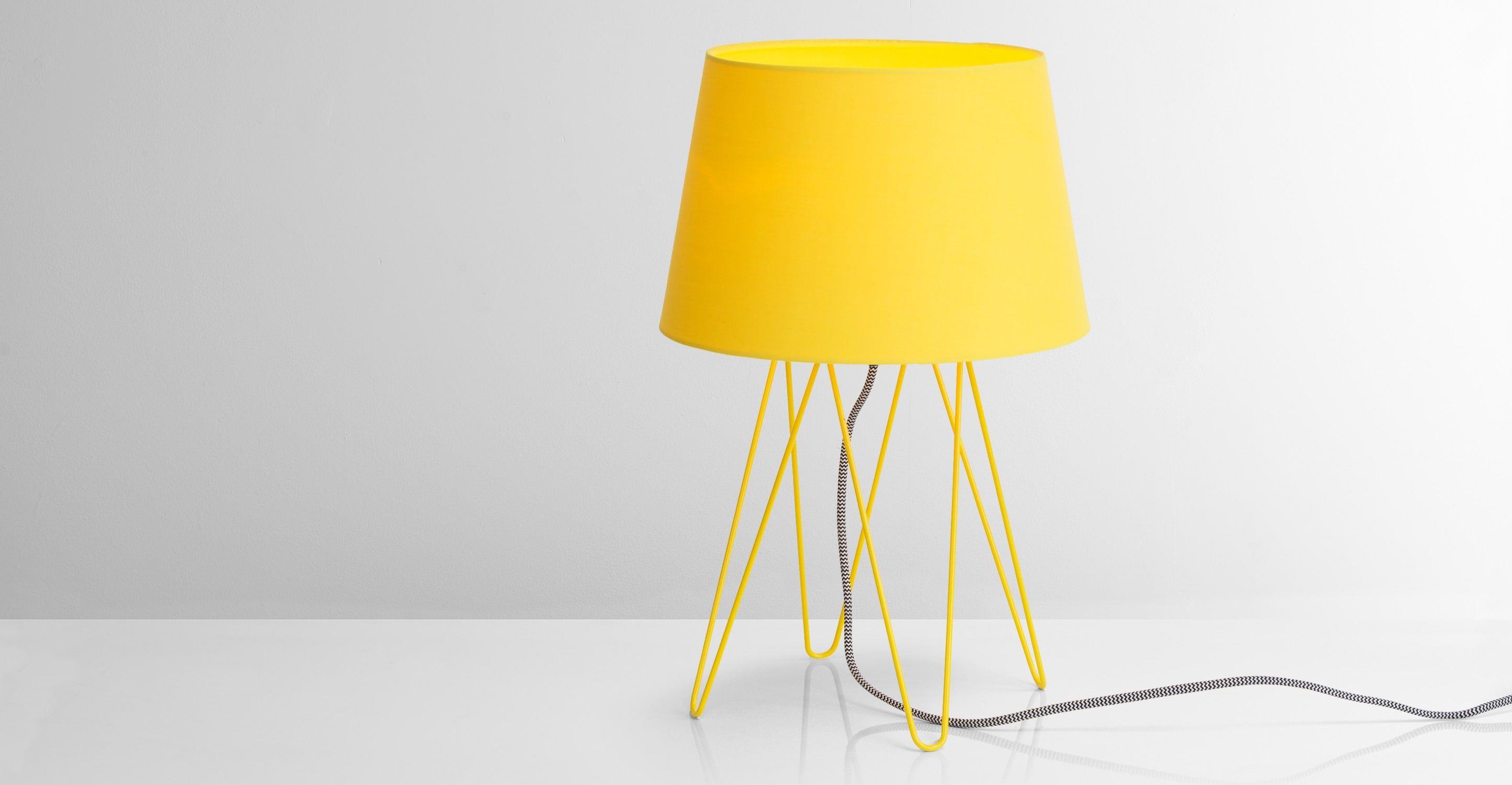 Tris lampe de table gris mat et cuivre