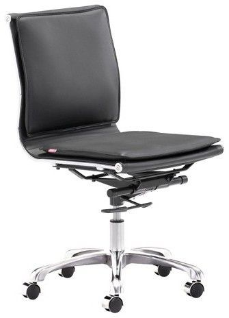 ZM Home Ergonomic Upholstered Adjustable Armless Office Chair   Black |  Ergonomic Furniture For The House | Pinterest | Office Desks, Desks And  House
