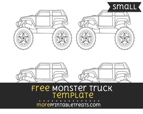 Free Monster Truck Template - Small Aiden Pinterest Monster - monster template