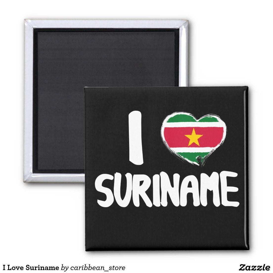 I Love #Suriname Fridge Magnet