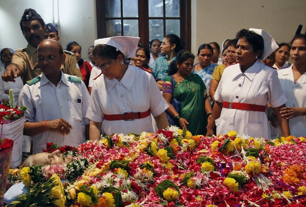 Photo of Indian nurse dies 42 years after a brutal rape left her in a vegetative state