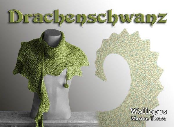Schal/Schultertuch im Drachenschwanz-Style häkeln: Hol Dir die ...