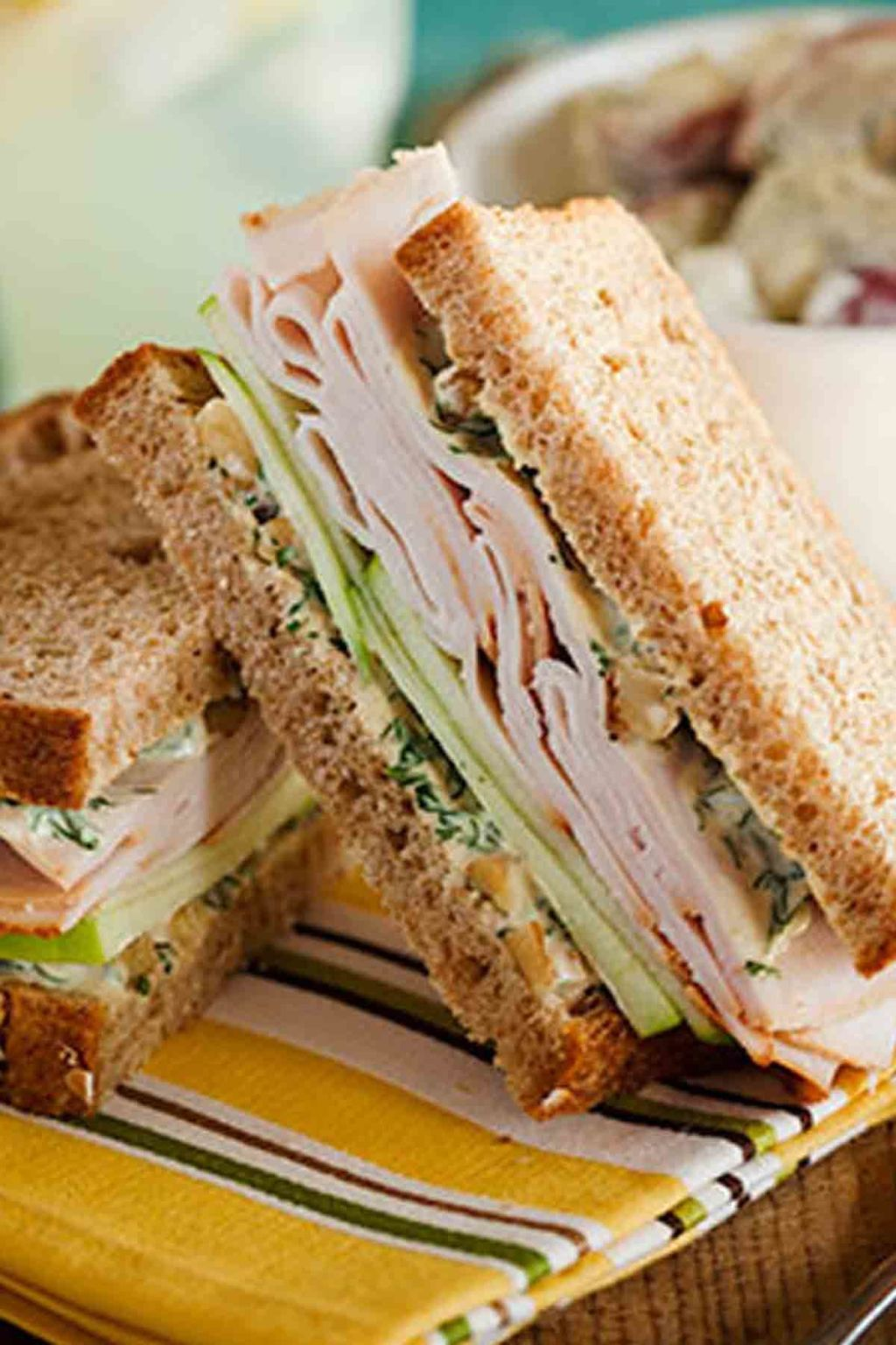 Curried Turkey, Apple, and Watercress Sandwich