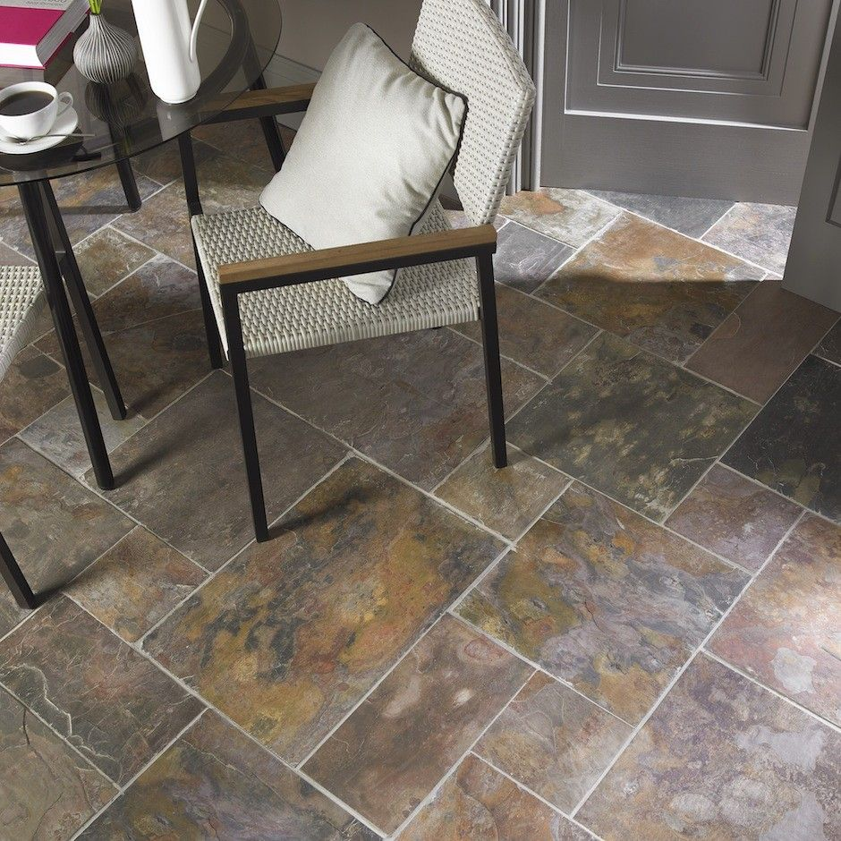 Natural Sheera Multicolour Slate Tiles Slate flooring