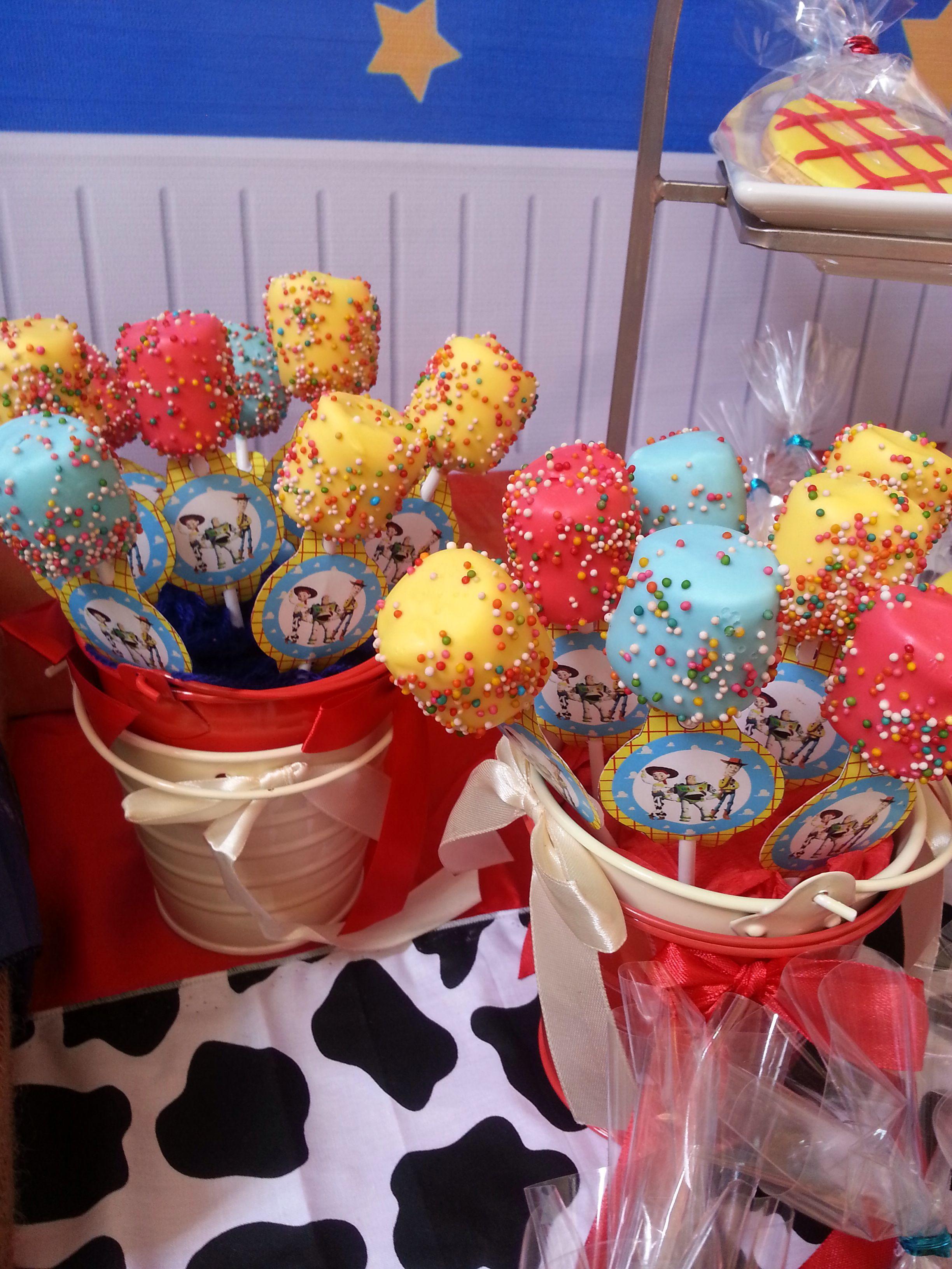 Toy Storycake pop Toy story party decorations, Toy